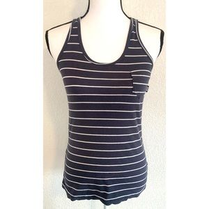 Vans blue & white striped tank top shirt small